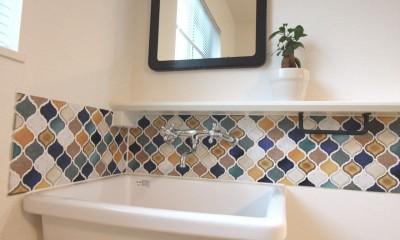 オリジナル!かわいらしさと便利さがうれしい造作手洗器