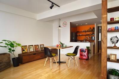 単身リノベはリラックスできる癒し空間 (いるだけで楽しくなるカフェのようなダイニング)