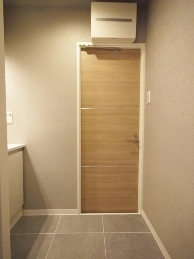 洗面室 (ナチュラルモダンの暮らしやすい1LDK)