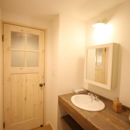 自然素材ショールーム (洗面室)