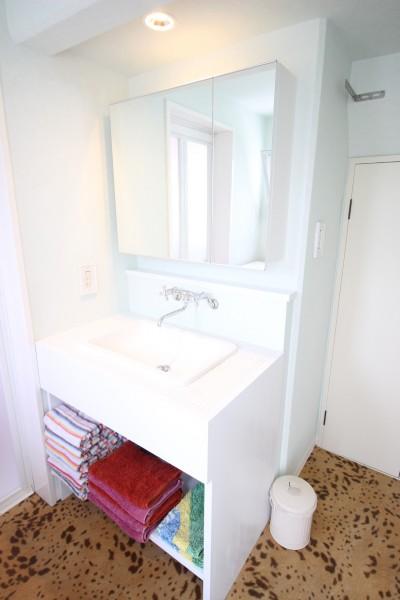 洗面室 (オーダーメイドで自分たちらしい暮らしを実現!湘南の明るい住まい♪)