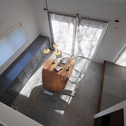 S邸 (天井が高く開放感のあるダイニング)