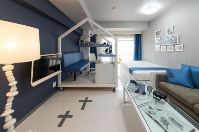 リビング/書斎/ベッドルーム (クリエイティブな職業の方向けマンション/可動する書斎のあるお部屋)
