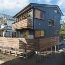 五つ葉の家|狛江市(注文住宅)の写真 外観_耐久性の高いガルバリウム鋼板