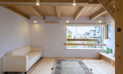 五つ葉の家|狛江市(注文住宅) (リビング)
