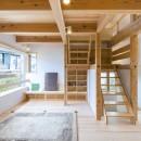 五つ葉の家|狛江市(注文住宅)の写真 造作階段・テレビボード