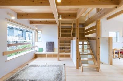 造作階段・テレビボード (五つ葉の家|狛江市(注文住宅))