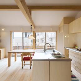 五つ葉の家|狛江市(注文住宅) (2Fリビングダイニング)