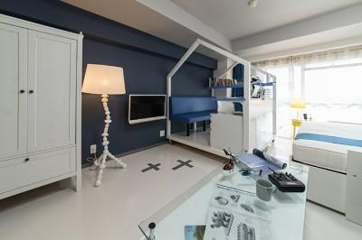 書斎 (クリエイティブな職業の方向けマンション/可動する書斎のあるお部屋)