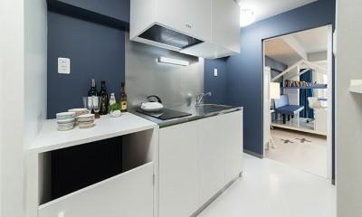 クリエイティブな職業の方向けマンション/可動する書斎のあるお部屋 (キッチン)