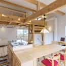 五つ葉の家|狛江市(注文住宅)の写真 2Fリビングダイニング