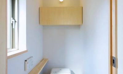 五つ葉の家|狛江市(注文住宅) (トイレ)