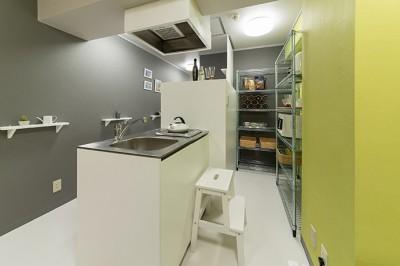 キッチン (男性単身者向けのマンション/狭さを感じさせないワンルーム)