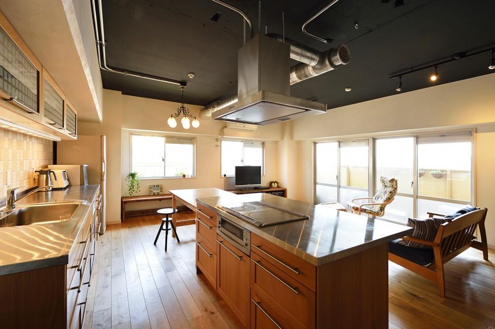 念願だった大空間LDK (皆で料理を楽しめる広々キッチン)