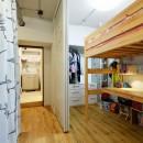 念願だった大空間LDKの写真 デスク・ベット・クローゼットのみのコンパクトな子供部屋