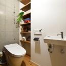 念願だった大空間LDKの写真 床はフラットで出入りしやすいトイレ