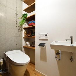 念願だった大空間LDK (床はフラットで出入りしやすいトイレ)