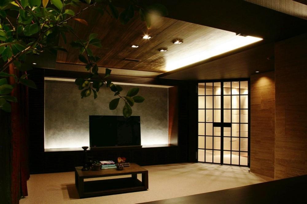映像美の家 (リビングルーム)