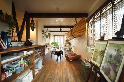 愛犬と楽しむ趣味の部屋 (ペットに優しい室内プラン)