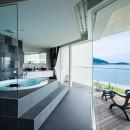 海に浮かぶ家の写真 ジャグジー