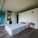 海に浮かぶ家の写真 ベッドルーム