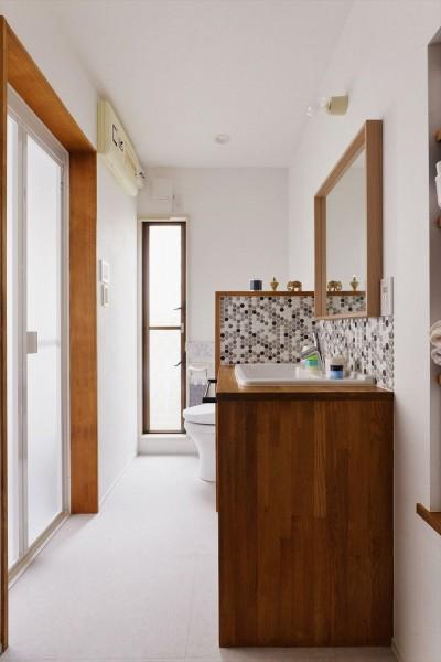 洗面・トイレ (暮らしが広がるスキップリビング)