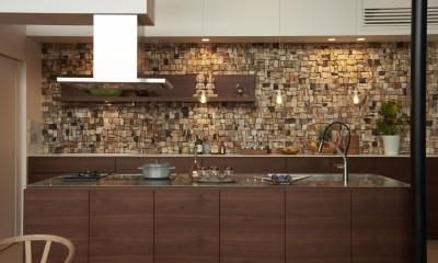 0(ゼロ)LDKの家 (表情豊かな木化石の壁材)