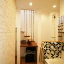 TWIN SMALL HOUSEの写真 1階洗面&階段