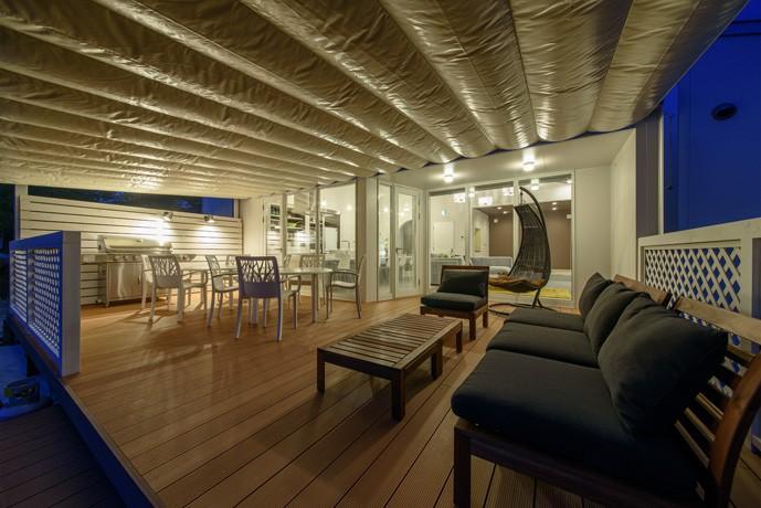 Holiday Villa Gran Suite/三角屋根の長期滞在型ヴィラ(ホテル) (テラス)