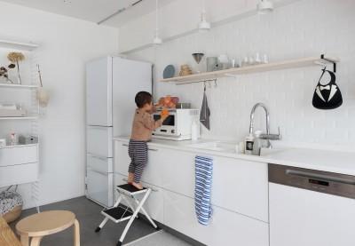ミニマムな北欧空間 (キッチン)