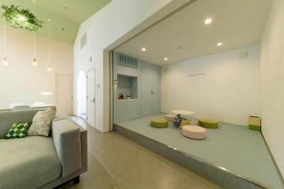リビング (Holiday Villa Gran Suite/三角屋根の長期滞在型ヴィラ(ホテル))