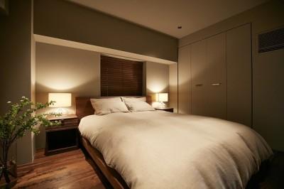 寝室 (「GREEN DAYS」リノベーション×室内緑化で、理想の住まいを形にしていく)
