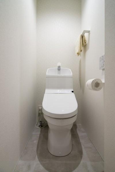 トイレ (素材と質感にこだわった表情豊かな空間)