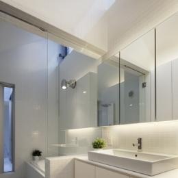 上高井戸の家の部屋 浴室洗面室