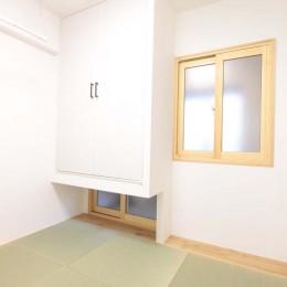 混雑しがちな場所を回遊動線で。土間・通気性・子供部屋を取り入れた夢のマンションリノベ。 (主寝室は和室に)