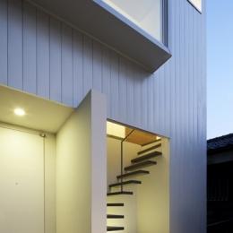 上高井戸の家の部屋 外観夜景