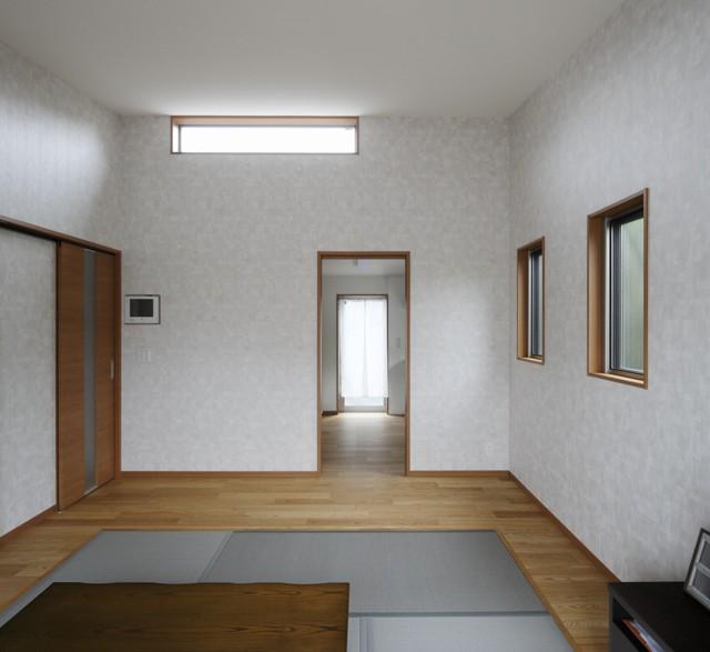 青い門形平屋の家 (内観2)