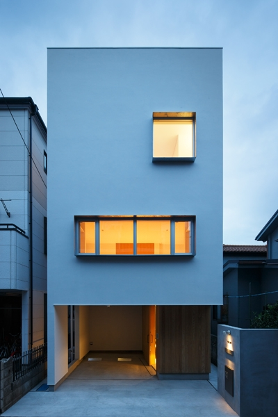 上鶴間の家 (外観夜景)