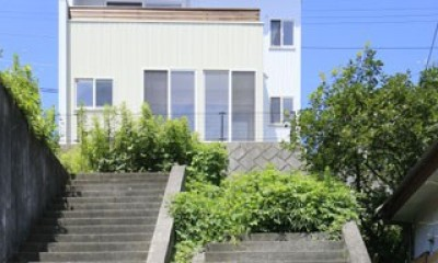 本棚階段のお家