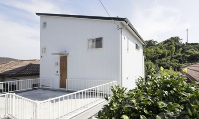 本棚階段のお家 (外観3)