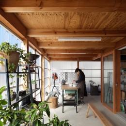 守谷の住宅 (土間スペース(アトリエスペース))