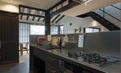 キッチン|アレルギー反応を持つ子供が住むための和モダン住宅/美しい空気の家