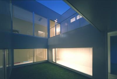 1階中庭 (橋本の住宅)