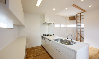 オブジェのような美しい曲線の家。『他にはないカッコいい家』は機能性もしっかり。 (キッチン)