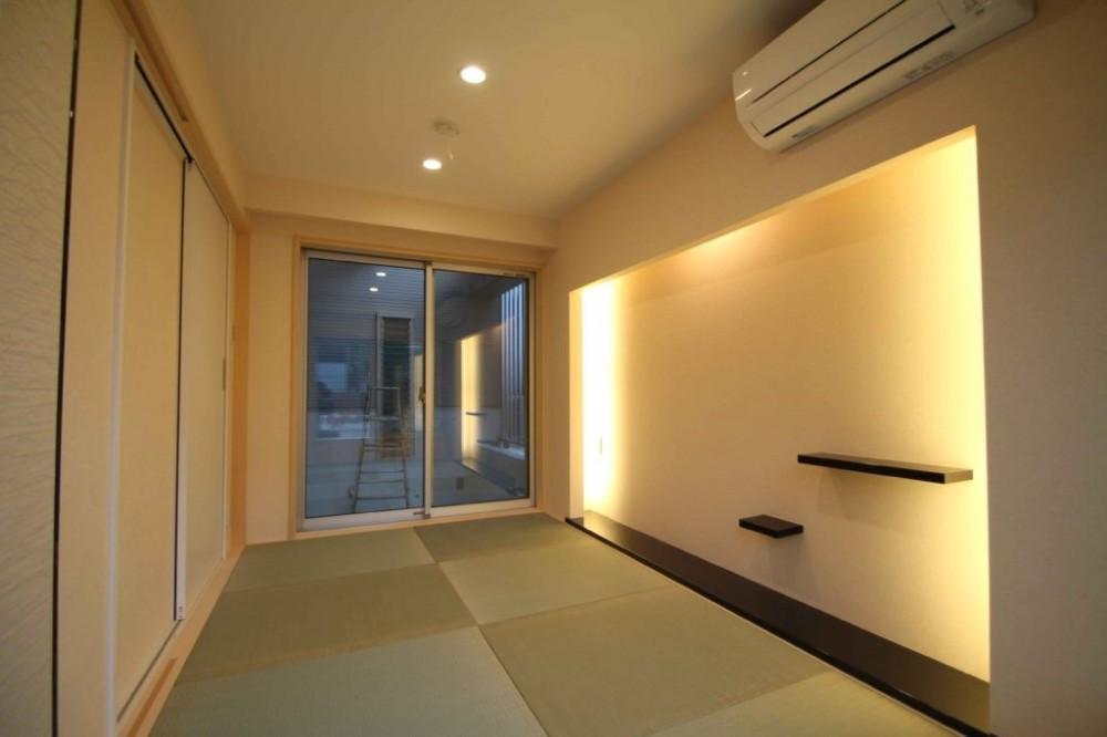 大人の空間をつくる「間接照明」コーブ照明/コーニス照明のある家 (和室 コーブ照明)