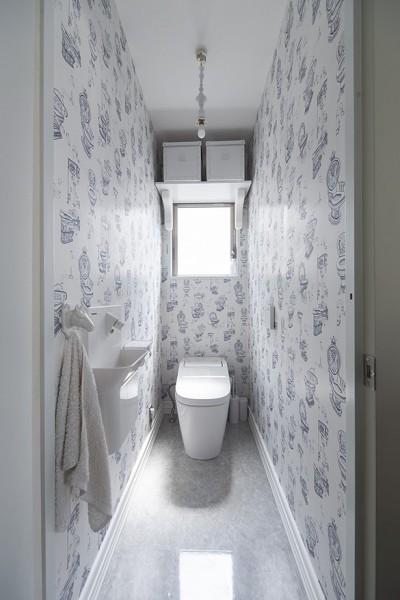 トイレ (西海岸仕立ての鉄骨戸建てリノベ)