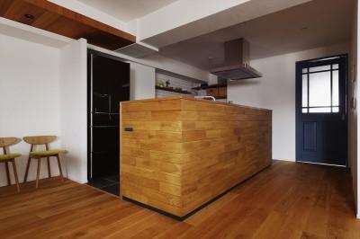 キッチン (N邸_ブルーが映えるナチュラル&シンプルスタイル)