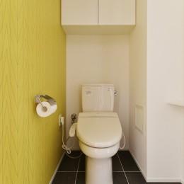 N邸_ブルーが映えるナチュラル&シンプルスタイル (トイレ)