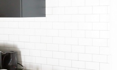 モールテックスキッチンのシンプルリノベーション (キッチン)