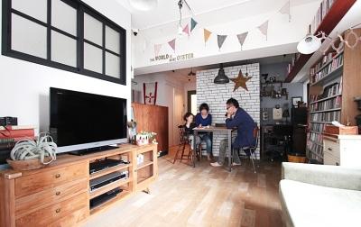 VINSTA - 小窓 × 白ブリック - (LIVING DINING KITCHEN1)